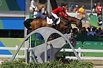 Reiko Takeda (JPN),, <br /> AUGUST 17, 2016 - Equestrian : <br /> Jumping Individual Qualification <br /> at Olympic Equestrian Centre <br /> during the Rio 2016 Olympic Games in Rio de Janeiro, Brazil. <br /> (Photo by Yusuke Nakanishi/AFLO SPORT)