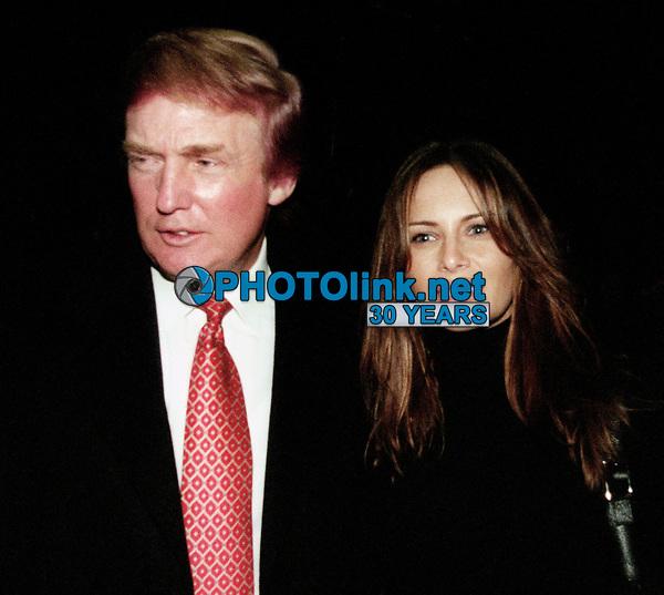 Donald Trump, Melanie Knauss, 1999, Photo By John Barrett/PHOTOlink