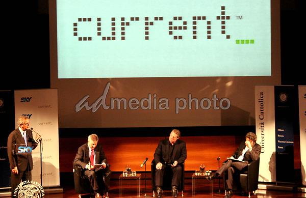 "09 May 2008 - Milan, Italy - Al Gore. Former Vice President and Nobel Prize winner,  Al Gore launces ""Current TV'. Photo Credit: Antonio Sorano/Liverani/AdMedia"