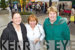 Alex Buhl, Maureen Williams and Ann Myers (all Tralee) enjoying the atmosphere at the Food for Thought food fair, held in IT Tralee on Wednesday.