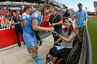 Bridgeview, IL - Saturday June 17, 2017: Fans, Katie Naughton during a regular season National Women's Soccer League (NWSL) match between the Chicago Red Stars and the Washington Spirit at Toyota Park. The match ended in a 1-1 tie.