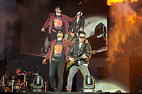 DERBY, ENGLAND - JUNE 8: M Shadows and Synyster Gates of 'Avenged Sevenfold' performing at Download Festival, Donington Park on June , 2018 in Derby<br /> CAP/MAR<br /> &copy;MAR/Capital Pictures