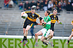 Alan O'Sullivan Dr Crokes goes past Legion's Mike O'Sullivan during the O'Donoghue cup final in Fitzgerald Stadium on Sunday