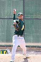 Julio Ramos, Oakland Athletics 2010 minor league spring training..Photo by:  Bill Mitchell/Four Seam Images.