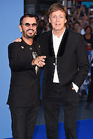 "Ringo Starr and Sir Paul McCartney<br /> at the Special Screening of The Beatles Eight Days A Week: The Touring Years"" at the Odeon Leicester Square, London.<br /> <br /> <br /> ©Ash Knotek  D3154  15/09/2016"