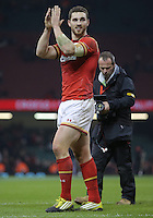 George North of Wales thanks home supporters after the RBS 6 Nations Championship rugby game between Wales and Scotland at the Principality Stadium, Cardiff, Wales, UK Saturday 13 February 2016