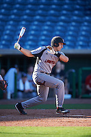 Louisville Cardinals pinch hitter Michael Bollmer (34) at bat during a game against the Ball State Cardinals on February 19, 2017 at Spectrum Field in Clearwater, Florida.  Louisville defeated Ball State 10-4.  (Mike Janes/Four Seam Images)