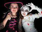 Annmarie Walsh and Caitlin Reilly pictured at the Halloween party for members of Ardee Brass Band in the Bohemian centre. Photo:Colin Bell/pressphotos.ie