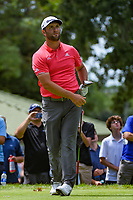 Jon Rahm (ESP) lines up his putt on 3 during Rd4 of the 2019 BMW Championship, Medinah Golf Club, Chicago, Illinois, USA. 8/18/2019.<br /> Picture Ken Murray / Golffile.ie<br /> <br /> All photo usage must carry mandatory copyright credit (© Golffile | Ken Murray)