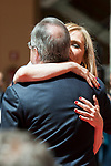 President of the community Cristina Cifuentes and Real Madrid's president Florentino Perez at Seat of Government in Madrid, May 22, 2017. Spain.<br /> (ALTERPHOTOS/BorjaB.Hojas)