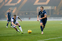 1st November 2019; Dens Park, Dundee, Scotland; Scottish Championship Football, Dundee Football Club versus Greenock Morton; Sean Mackie of Dundee goes past Lewis Strapp of Greenock Morton  - Editorial Use