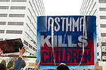 Protestors take part in the March in March outside the TVA headquarters in Knoxville, Tennessee. The protestors were protesting coal mining during an event called Mountain Justice Spring Break on March 14, 2009.