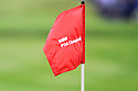 Pin flag on the 18th green during the final round of the BMW PGA Championship played over the West Course at the Wentworth Club on 24th May 2015 in Virginia Water, Surrey, England. Picture Credit / Phil INGLIS
