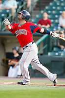 July 22, 2009:  Second baseman Travis Denker of the Pawtucket Red Sox during a game at Frontier Field in Rochester, NY.  Pawtucket is the Triple-A International League affiliate of the Boston Red Sox.  Photo By Mike Janes/Four Seam Images