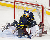 Collin Delia (Merrimack - 1), David Cotton (BC - 17) - The visiting Merrimack College Warriors defeated the Boston College Eagles 6 - 3 (EN) on Friday, February 10, 2017, at Kelley Rink in Conte Forum in Chestnut Hill, Massachusetts.