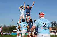 A line out during the Greene King IPA Championship match between London Scottish Football Club and Bedford Blues at Richmond Athletic Ground, Richmond, United Kingdom on 25 March 2017. Photo by David Horn / PRiME Media Images.