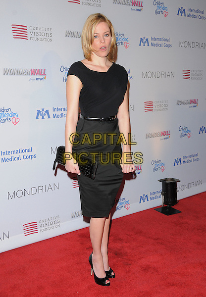 ELIZABETH BANKS.The Children Mending Hearts Benefit for International Medical Corps Relief Efforts in the Congo held at The House of Blues Sunset in West Hollywood, California, USA..February 18th, 2009.full length black grey gray sleeveless dress clutch bag belt peep toe shoes .CAP/DVS.©Debbie VanStory/Capital Pictures.