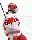 Isabel Menard (BU - 20) - The Boston University Terriers defeated the Harvard University Crimson 5-2 on Monday, January 31, 2012, in the opening round of the 2012 Women's Beanpot at Walter Brown Arena in Boston, Massachusetts.