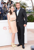 "Marion Cotillard and Mathias Schoenaerts attending the ""De Rouille Et D'os"" Photocall during the 65th annual International Cannes Film Festival in Cannes, 17th May 2012...Credit: Timm/face to face /MediaPunch Inc. ***FOR USA ONLY***"