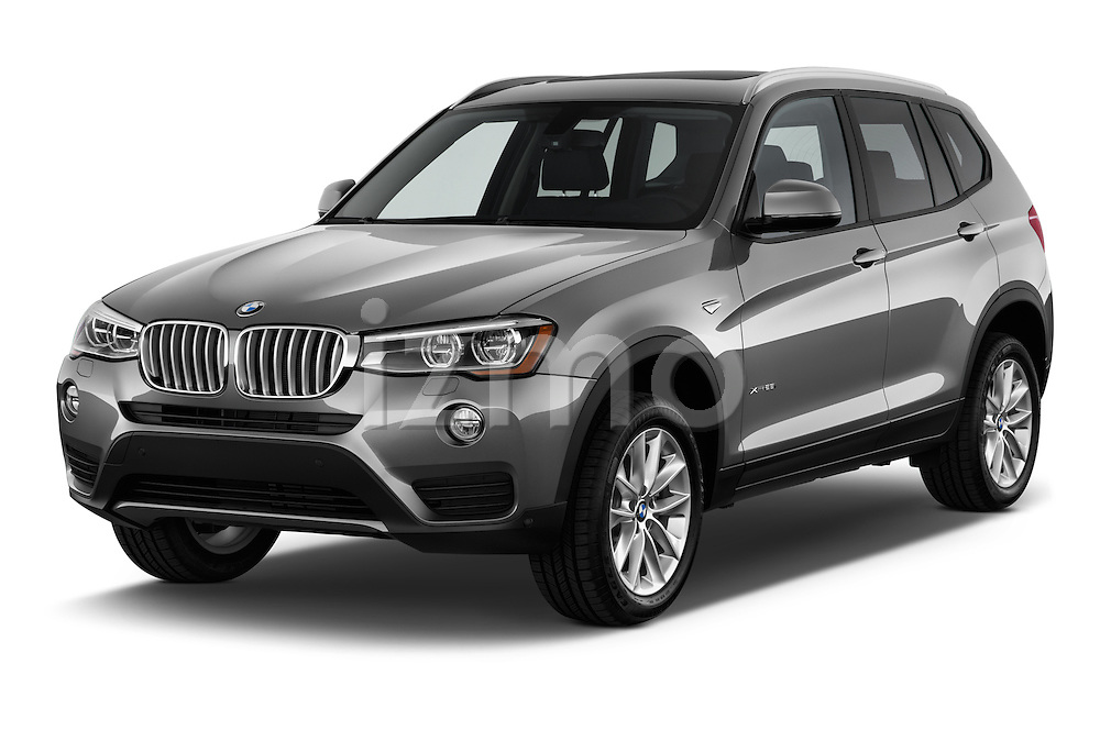 2017 BMW X3 sDrive28i 5 Door SUV Angular Front stock photos of front three quarter view