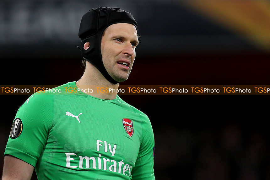 Arsenal goalkeeper, Petr Cech during Arsenal vs Napoli, UEFA Europa League Football at the Emirates Stadium on 11th April 2019