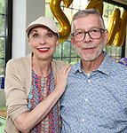 Julie Halston and Sam Rudy attend the Retirement Celebration for Sam Rudy at Rosie's Theater Kids on July 17, 2019 in New York City.
