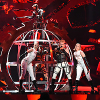 Hatari (Iceland)<br /> Eurovision Song Contest, Rehearsal of the first semi-final, Tel Aviv, Israel - 13 May 2019<br /> **Not for sales in Russia or FSU**<br /> CAP/PER/EN<br /> &copy;EN/PER/CapitalPictures