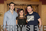 ST PATS GAA: Enjoying the fun at the St Patrick's GAA annual social at the Meadowlands hotel on Saturday l-r: Brendan Poff, Emma Sugrue and John Fitzgerald.