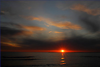 Sand Hill Cove beach also known as Roger C Wheeler beach in Narraganset RI was the site of this dramatic sunset.