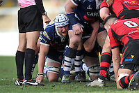 Nick Koster looks on at a scrum. Greene King IPA Championship match, between Bristol Rugby and Jersey on February 2, 2014 at the Memorial Stadium in Bristol, England. Photo by: Patrick Khachfe / JMP