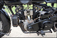 BNPS.co.uk (01202 558833)<br /> Pic: Bonhams/BNPS<br /> <br /> All original engine.<br /> <br /> Untouched time capsule makes this Brough Superior.<br /> <br /> An exceptionally rare vintage Brough Superior motorbike that has remained entirely unaltered since it was built nearly 90 years ago has emerged for &pound;140,000. <br /> <br /> From the marque dubbed the 'Rolls-Royce' of motorcycles this 680 Black Alpine bears the same frame, engine and gearbox as it did when it left the now defunct manufacturer's Nottingham factory in 1930. <br /> <br /> In 1927, with heavyweight models SS80 and SS100 already well established, biking pioneer George Brough decided to unleash a middleweight machine on to the burgeoning market. <br /> <br /> The bike will be sold by Bonhams in Stafford, Staffs, on April 23.