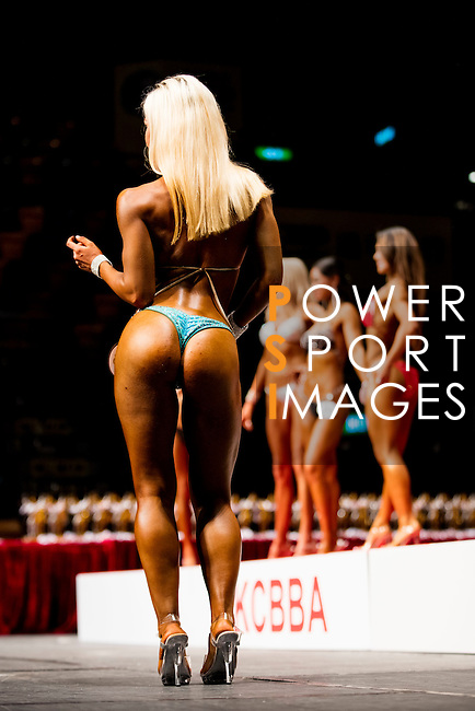 Bodybuilder Rachelle Fawcett competes in the Women's Model Physique category during the 2016 Hong Kong Bodybuilding Championships on 12 June 2016 at Queen Elizabeth Stadium, Hong Kong, China.  Photo by Victor Fraile / Power Sport Images