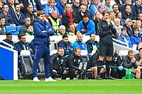 Tottenham Hotspur Manager Mauricio Pochettino left looks on during Brighton & Hove Albion vs Tottenham Hotspur, Premier League Football at the American Express Community Stadium on 5th October 2019