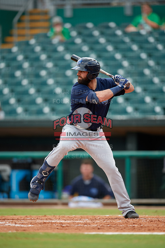 Mobile BayBears Kaleb Cowart (26) at bat during a Southern League game against the Montgomery Biscuits on May 2, 2019 at Riverwalk Stadium in Montgomery, Alabama.  Mobile defeated Montgomery 3-1.  (Mike Janes/Four Seam Images)
