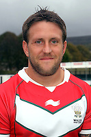 PICTURE BY IAN LOVELL/WRL...Rugby League - Wales Rugby League Headshots 2011 - 21/10/11...Wales Peter Lupton.