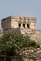 El Castillo  at the Mayan ruins of Tulum on the Riviera Maya, Quintana Roo, Mexico.