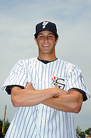 Staten Island Yankees pitcher Nathan Forer (24) during first team workout at Richmond County Bank Ballpark at St. George in Staten Island, NY June 15, 2010.  Photo By Tomasso DeRosa/ Four Seam Images