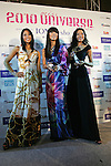 March 9, 2010 - Tokyo, Japan - Newly crowned 2010 Miss Universe Japan Maiko Itai (C), first runner up Momoka Yoshida (L), and second runner up Moeko Fukuda (R) pose dduring 2010 Miss Universe Japan final competition at Grand Prince Hotel New Takanawa on March 9, 2010 in Tokyo, Japan. The winner of the contest will compete representing Japan at Miss Universe 2010 pageant later this year. (Photo Laurent Benchana/Nippon News)