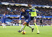 2nd February 2019, Stamford Bridge, London, England; EPL Premier League football, Chelsea versus Huddersfield Town; Terence Kongolo of Huddersfield Town challenges Eden Hazard of Chelsea