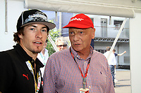 Nicky HAYDEN, MotoGP Pilot of team DUCATI with Niki LAUDA <br /> Motorsport - Formula 1<br /> Grand Prix of Italy<br /> Monza, Italy<br /> 11 September 2011<br /> &copy; Sport the library / ATP