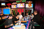51fifty's drummer, Dustin, celebrates his 25th birthday, with friends at Chuck E Cheese, Las Vegas, NV, November 23, 2010 © Al Powers, PowersImagery.com