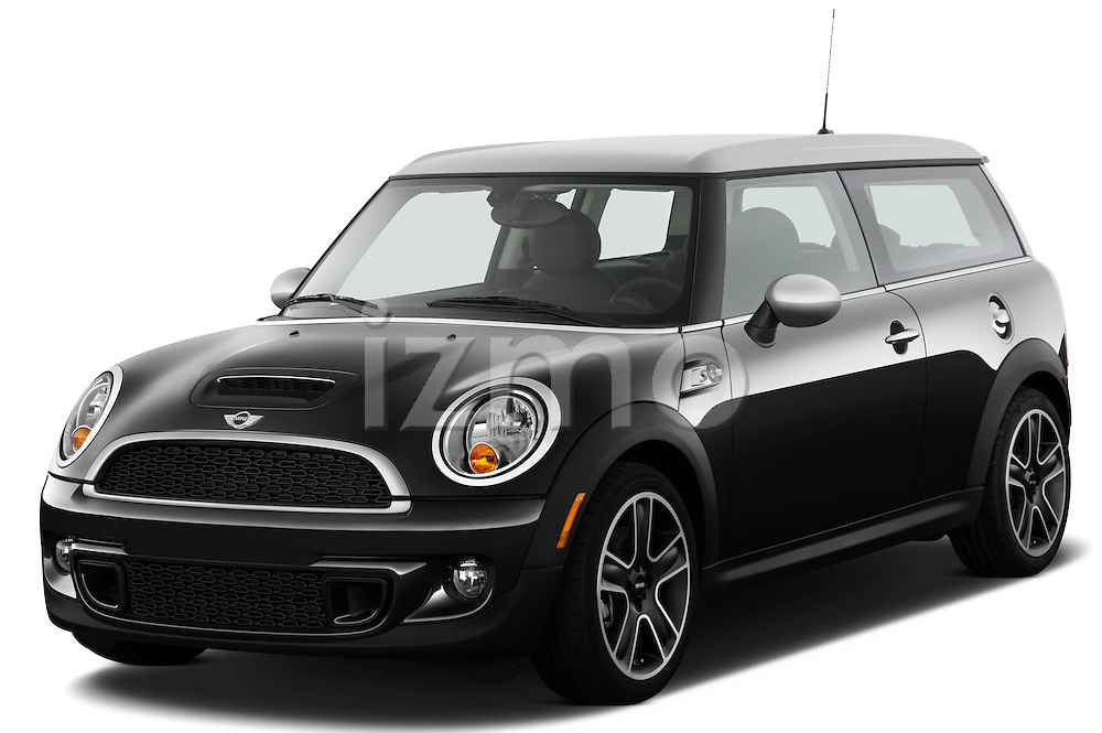 Front three quarter view of a 2011 Mini Cooper Clubman S.