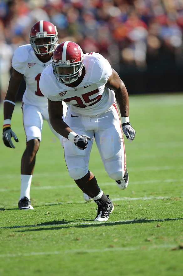 NICO JOHNSON, of Alabama in action during their game against Duke on September 18, 2010 in Durham, NC...Alabama won 62-13