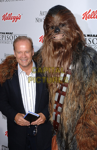 KELSEY GRAMMER & CHEWBACCA.Premiere of Star Wars Episode III: Revenge of The Sith at the Mann Village Theatre in Los Angeles, California.May 12th, 2005.half length dress up costume hair .www.capitalpictures.com.sales@capitalpictures.com.©Capital Pictures.