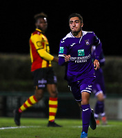 20191125 - WOLVERTEM: Anderlecht's Anouar Ait El Hadj celebrates his goal during the Belgian Elite U21 league football match between RSC Anderlecht U21 and KV Mechelen U21 on Monday 25th of November 2019 at F. Lathouwersstadion, Wolvertem Belgium. PHOTO: SEVIL OKTEM|SPORTPIX.BE