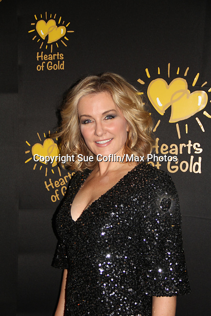 Actress Amy Carlson - Another World (co-mistress of ceremonies) at the annual All That Glitters Gala - 24 years of support to New York City's homeless mothers and their cildren - (VIP Reception - Silent Auction) was held on November 7, 2018 at Noir et Blanc and the 40/40 Club in New York City, New York.  (Photo by Sue Coflin/Max Photo)