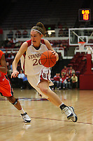 10 January 2008: Stanford Cardinal Hannah Donaghe during Stanford's 81-45 win against the Oregon State Beavers at Maples Pavilion in Stanford, CA.