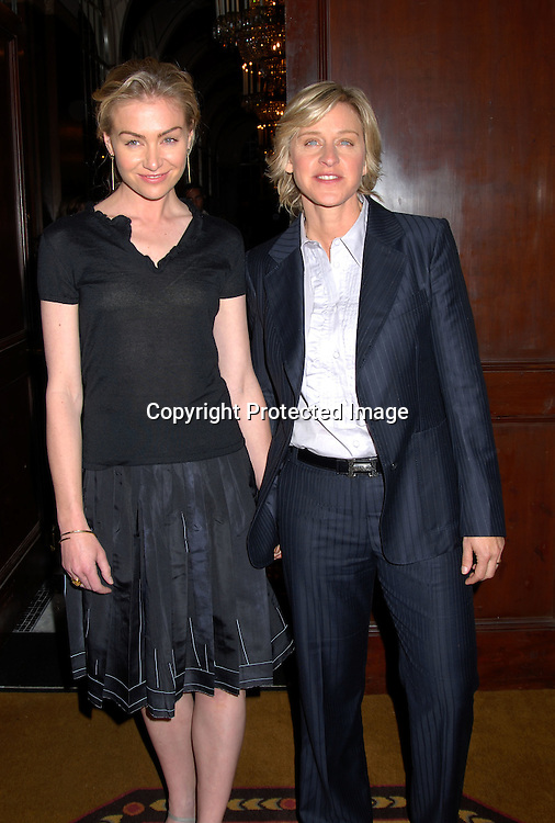 Portia de Rossi and Ellen DeGeneres ..at the New York Women in Communications, Inc 2006 Matrix Awards Luncheon on April 3, 2006 at The Waldorf Astoria Hotel. ..Robin Platzer, Twin Images