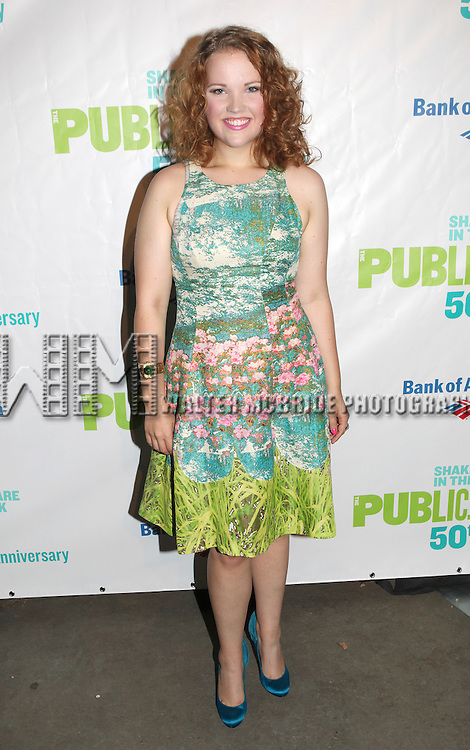 Victoria Cook attending the Opening Night Performance After Party for  The Public Theater's 'Into The Woods' at the Delacorte Theater in New York City on 8/9/2012.