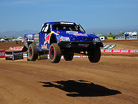 Apr 15, 2011; Surprise, AZ USA; LOORRS driver Bryce Menzies (7) during round 3 and 4 at Speedworld Off Road Park. Mandatory Credit: Mark J. Rebilas-.